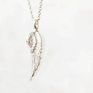 925 Sterling Silver Angel Wing Necklace for Ashes