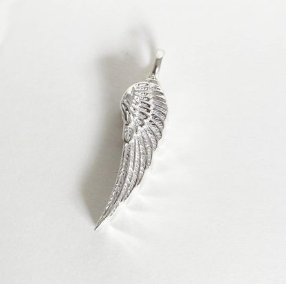 925 Sterling Silver Angel Wing Ash Pendant