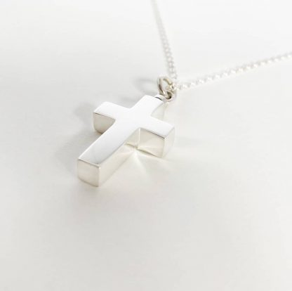 925 Sterling Silver Cross Necklace for Ashes with chain