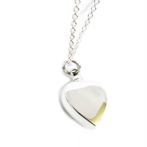 925 Sterling Silver Heart Cremation Necklace