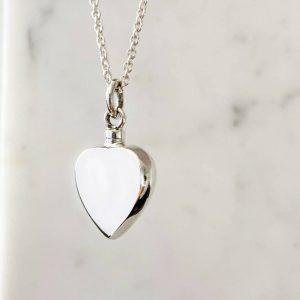 Silver Heart Ash pendant