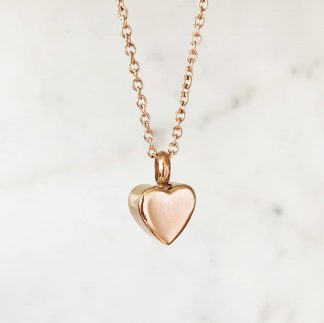 Small Heart Ashes Pendant with chain