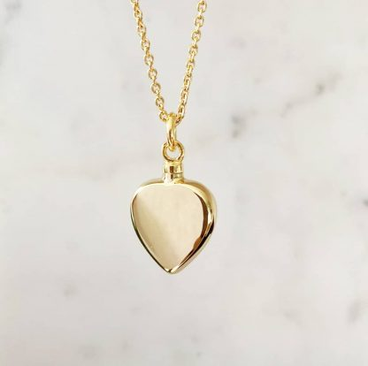 18K Gold Plated Heart Cremation Necklace