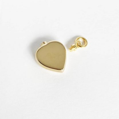 Gold Heart Cremation Necklace For Ashes with screw cap